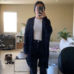 Black oversized knit cardigan slouch size m